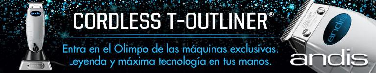 ANDIS - Cordless T-Outliner: máxima tecnología en tus manos