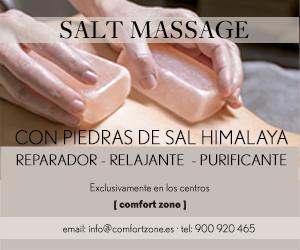 SALT MASSAGE, con piedras de sal del Himalaya