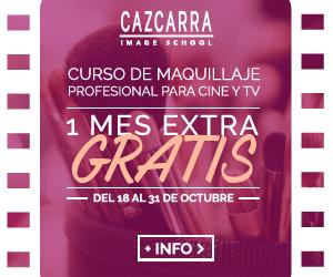 CAZCARRA. Curso de Maquillaje Profesional para Cine y TV. 1 mes extra GRATIS