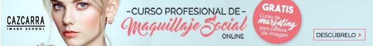 CAZCARRA: Curso Profesional de Maquillaje Social Online