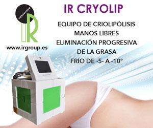 IR CRYOLIP: equipo de criolipólisis