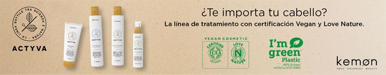 KEMON ACTYVA: la línea de tratamiento con certificación Vegan y Love Nature