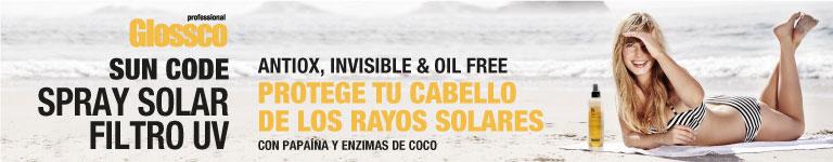 GLOSSCO - SUN CODE. Spray Solar Filtro UV