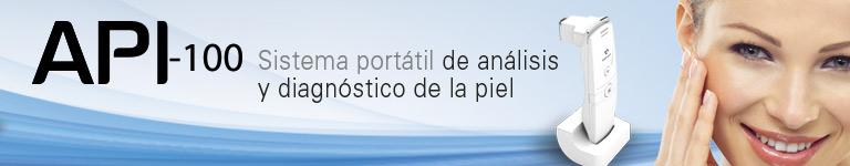 API 100. Sistema portátil de análisis y diagnóstico de la piel