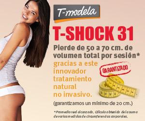 T-Shock 31: pierde de 50 a 70 cm de volumen total por sesi�n