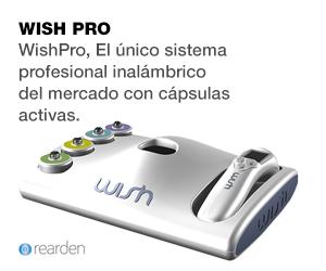 WishPro, el �nico sistema profesional inal�mbrico del mercado con c�psulas activas.