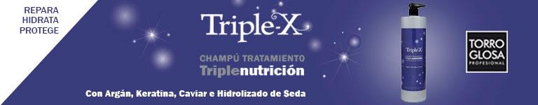 TORROGLOSA - TRIPLE X, champú tratamiento triple nutrición: repara, hidrata, protege
