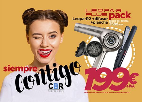 Oferta Imbatible Pack Leopa-R: Secador + Difusor + Plancha