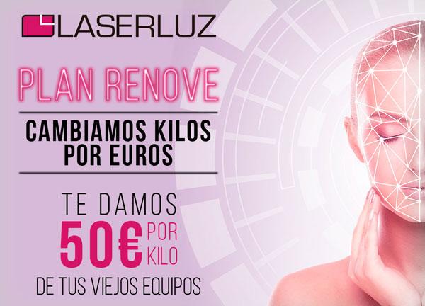 Plan Renove Laserluz: Te damos 50 euros por kilo de tu viejo equipo