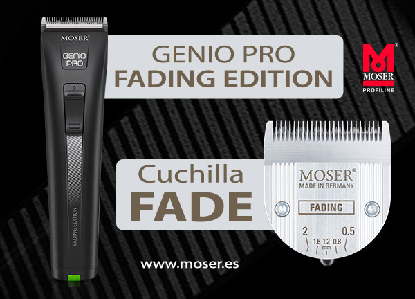 Genio Pro Fading Edition, con cuchilla especial FADE de MOSER