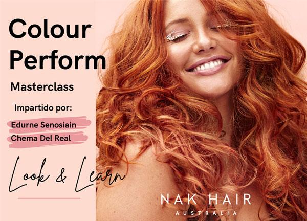 Ven a la Masterclass 'Colour Perform' de Nak Hair