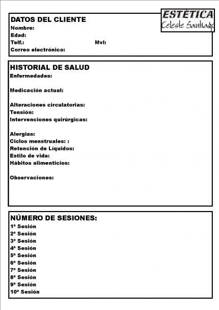Foros Estetica Ficha Salud Clientas