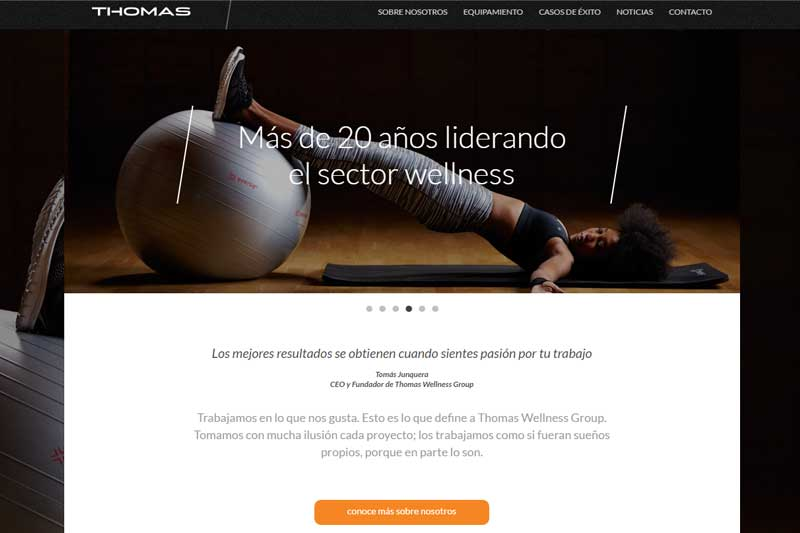 Thomas Wellness Group estrena nueva web