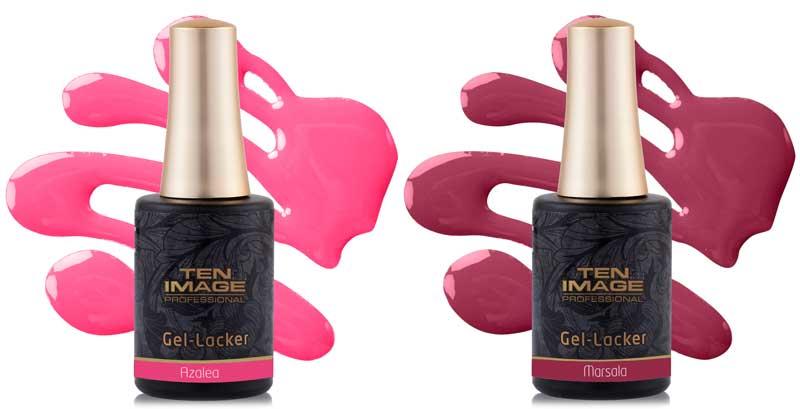 Ten Image amplía la gama de Gel-Lacker con dos nuevos tonos: Marsala y Azalea