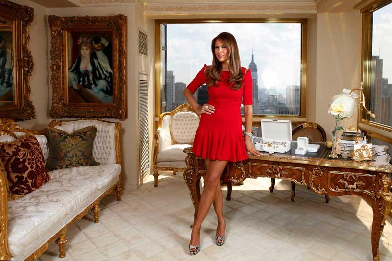 Habitación de belleza en la Casa Blanca para Melania Trump