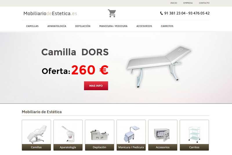 Mobiliariodeestetica.es, productos innovadores y de calidad para el profesional