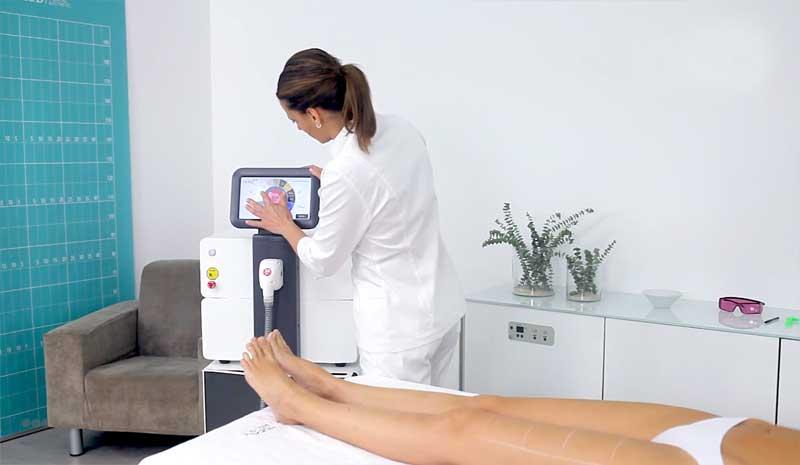 Eneka Pro, uma máquina de laser díodo eficaz com o pelo residual
