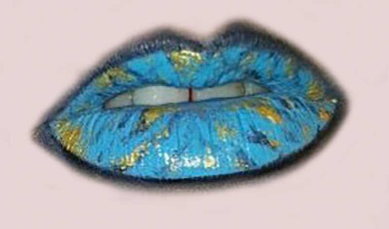 Labios de mármol, lo más atrevido en maquillaje