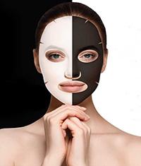 Efeito segunda pele, Black & White Tissue Mask de Montibello