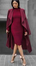 Llega el burgundy, el color preferido para los días de invierno