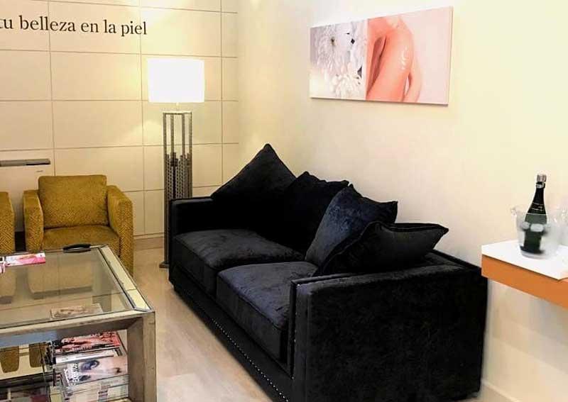 espacio para clientes en centro de estética cristina galmiche
