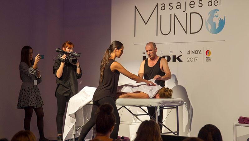 Talleres de masajes del mundo en salon look 2019