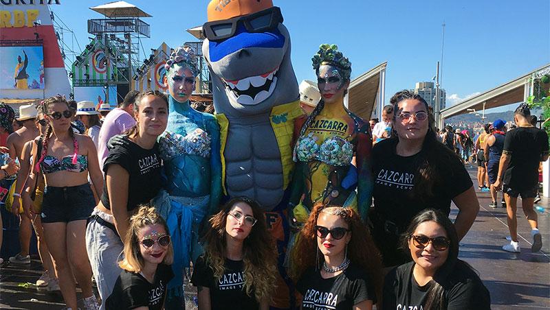 Cazcarra Y ten Image Group en el festival reggaeton celebrado en Barcelona