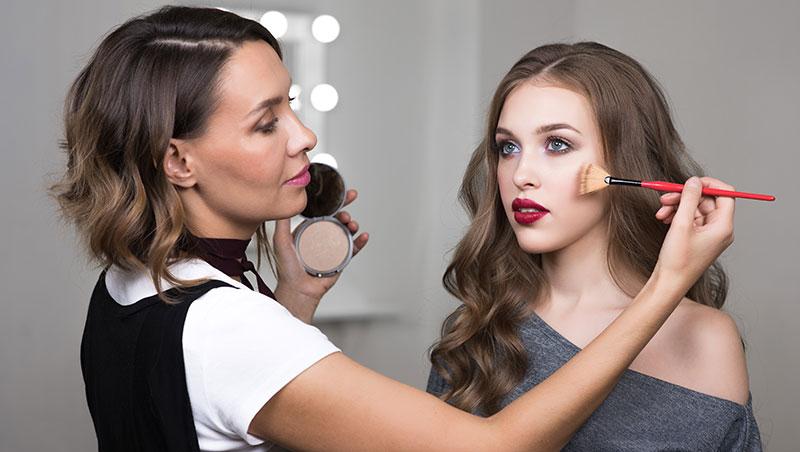 polvo compacto - maquillaje