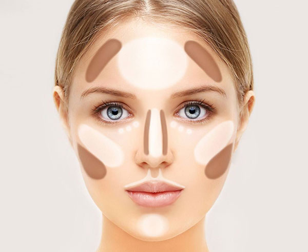 polvo compacto - maquillaje - contouring