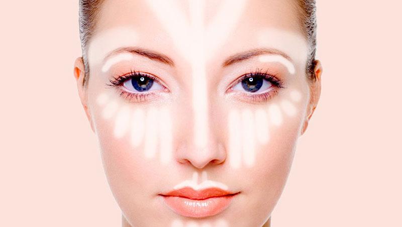 polvo compacto - maquillaje - strobing