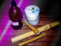 aceites y palos de bambuterapia