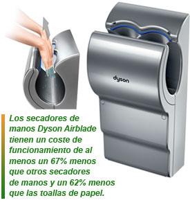 Dyson airblade mk2 el secador de manos m s higi nico - Secador de manos ...