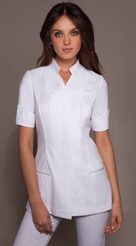 Uniformes profesionales de stylemonarchy for Uniform for spa receptionist