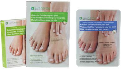 Luxiderma: calcetines que miman los pies.