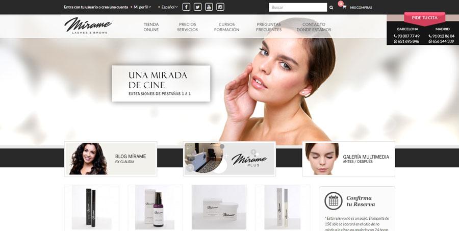 M�rame Lashes and Brows inaugura su tienda 'on-line'.
