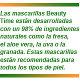 mascarillas Beauty Time