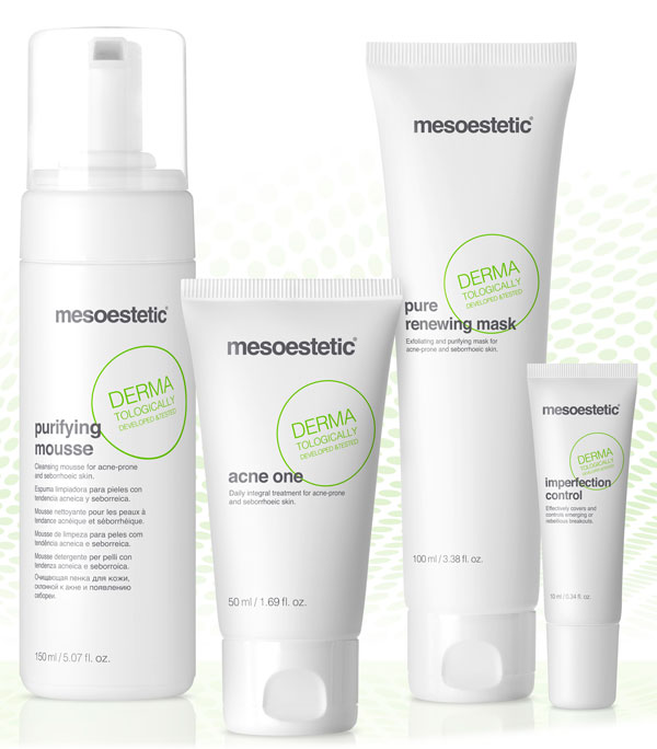 acne solution by mesoestetic linea mantenimiento