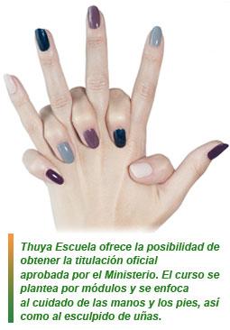 Thuya Escuela titulación oficial en uñas
