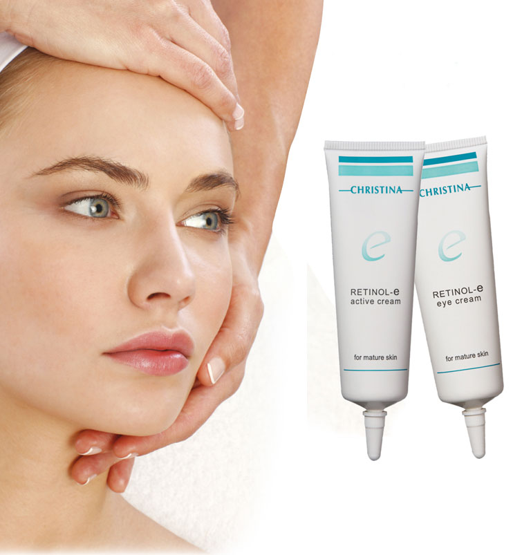 Retinol-e active cream y Retinol-e eye cream