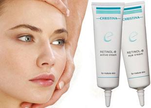 Retinol-e active cream y Retinol-e eye cream, de Christina Cosmetics.