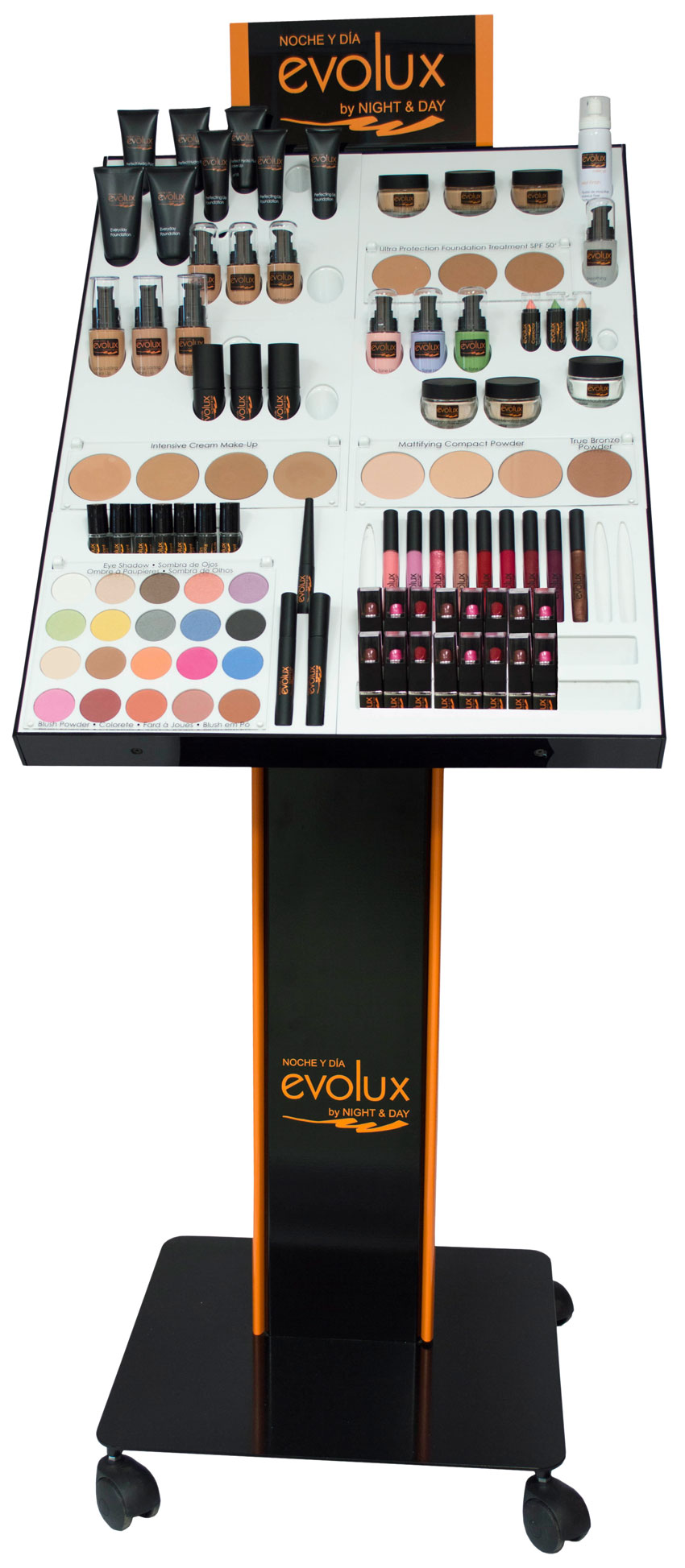 Nuevo expositor de maquillaje profesional Evolux Make Up