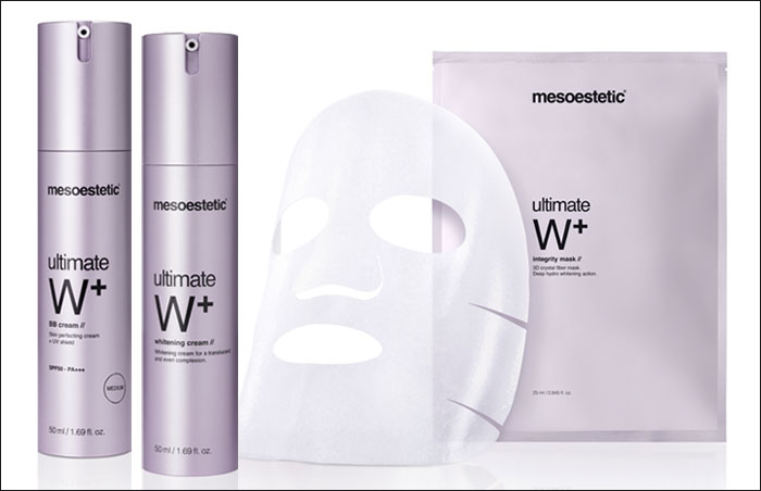 Beauty Market y mesoestetic Pharma Group sortean 6 lotes de productos blanqueantes de la línea ultimate White+