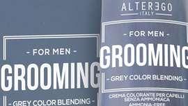 La línea de grooming, de Alter Ego Italy, carece de amoniaco. Contiene una fórmula enriquecida con el complejo Q_Complex, a base de quinoa certificada eco con poder de absorción del pigmento colorante en el cabello