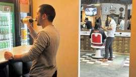 El país ya cuenta con la primera barbería en la que se puede consumir alcohol, ver partidos deportivos, escuchar rock & roll y quedar con los amigos