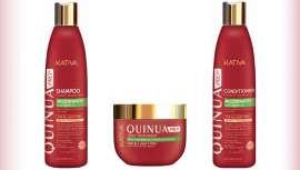 La gama, compuesta de champú, acondicionador y mascarilla, contiene quinua, un pseudocereal de América del Sur beneficioso para el pelo
