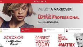 La marca estadounidense, especializada en cuidado del cabello y coloración profesional, presenta la web MatrixProfessional.com inspirada en plataformas como Pinterest, You Tube, Linkedin y Houzz