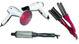 Las firmas, distribuidas por Sevenhair, ofrecen todo tipo de herramientas eléctricas para el salón. Desde secadores a planchas, cepillos eléctricos, rizadores y máquinas de corte. Aparatos que facilitan un acabado impecable