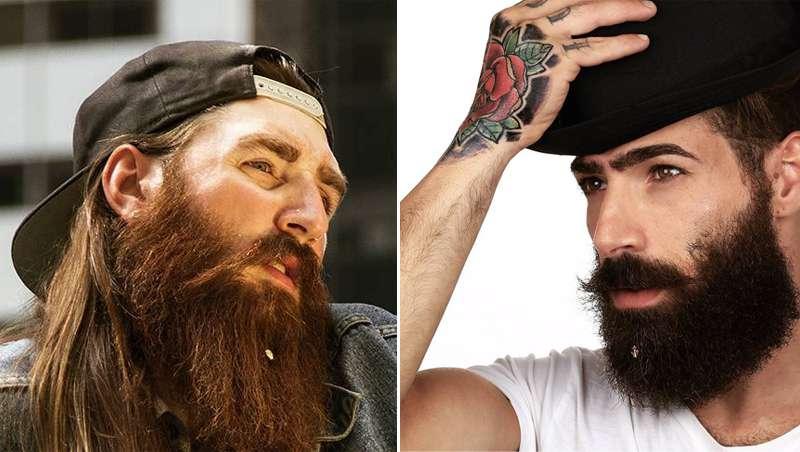 Los hipsters dan un paso más y lucen joyas en sus barbas