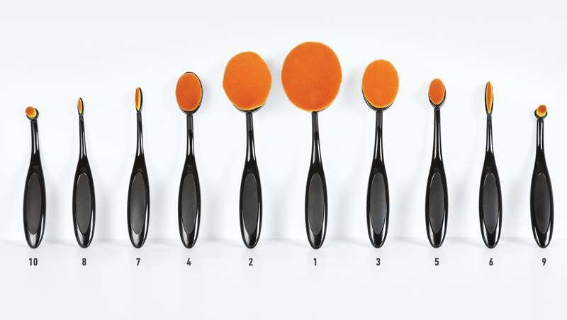 Brov, las brochas ovaladas en formatos adaptables a la fisonomía facial