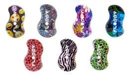 Se presenta en 11 estampados multicolores sobre diferentes temas y estilos, desenfadados e informales. Cada Floppy cambia de tono según el color de la carcasa del cepillo